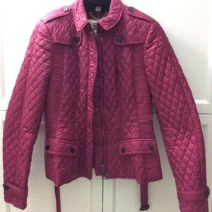 Burberry London Quilted Jacket Belted Motorcycle 4